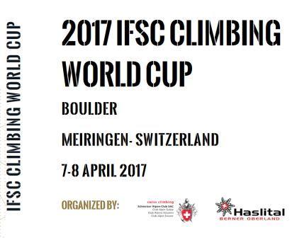 IFSC Climbing Worldcup (bouldering), PROVISIONAL, Meiringen